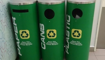 Figure 3 Recycling Bins at Shopping Malls